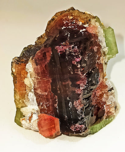 Natural bi colour tourmaline crystal collection 48.73 grams