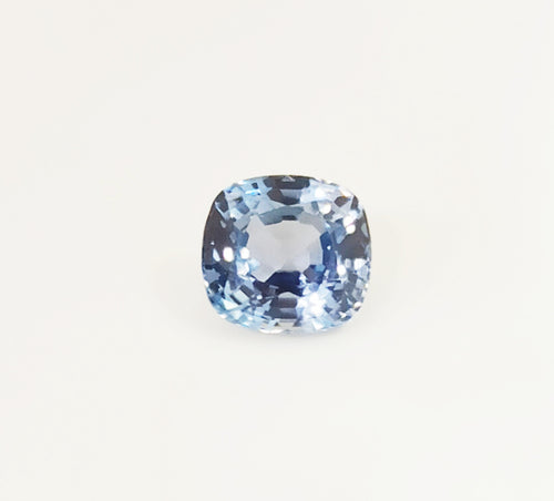 Pastel blue colour natural sapphire from burma cushion