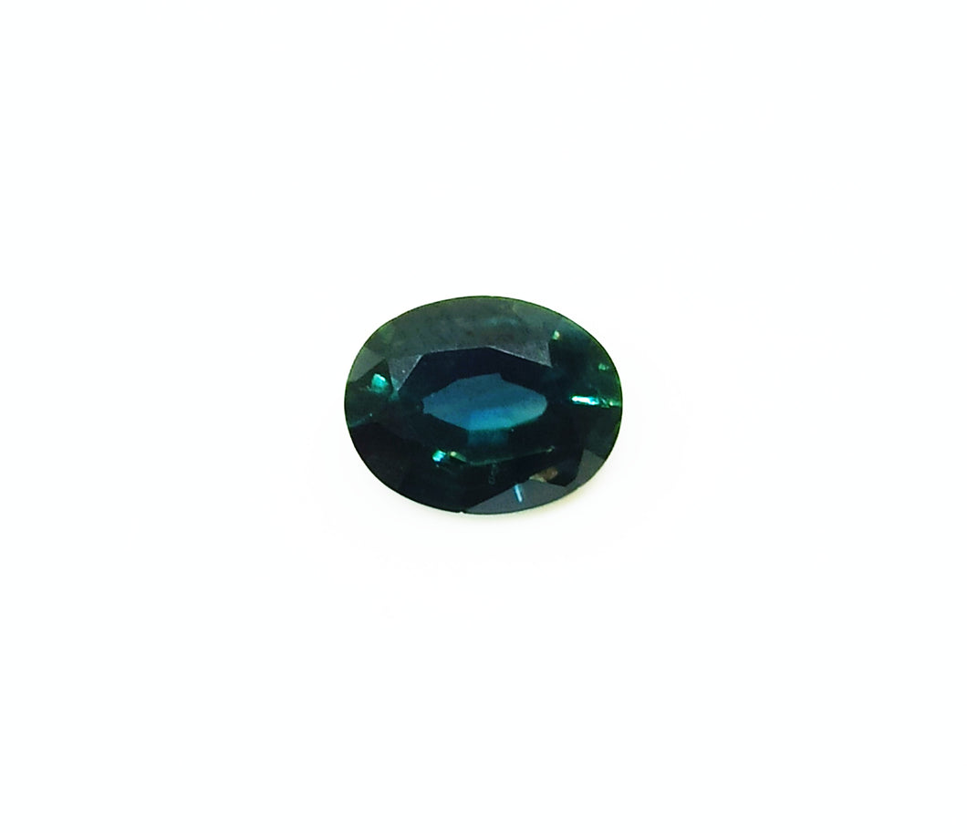 Natural teal green sapphire loose gemstone 1.60 carats.
