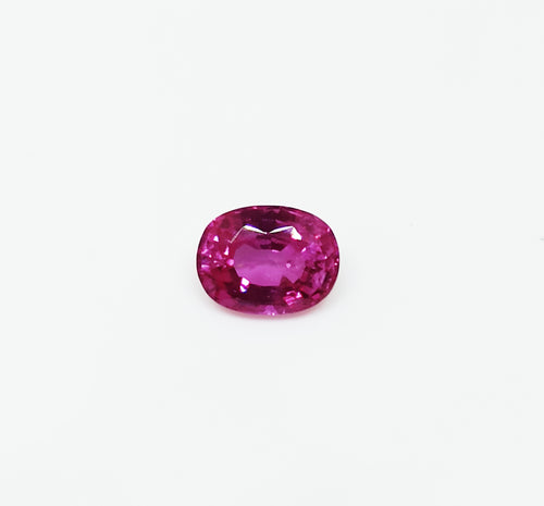 Natural rich pink colour sapphire loose gemstone 1.07 carats oval shape unheated and untreated