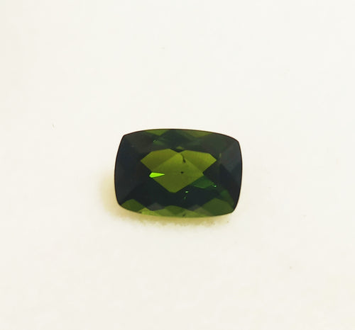 Green tourmaline gemstone rectangular cushion cut 7 X 5 mm