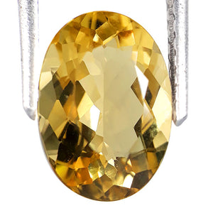 2.60 carats natural yellow beryl loose gemstone oval shape