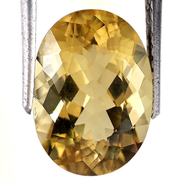 6.50 carats natural yellow beryl loose gemstone oval shape