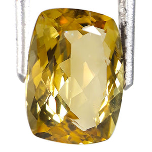 3.00 carats spectacular natural yellow beryl loose gemstone