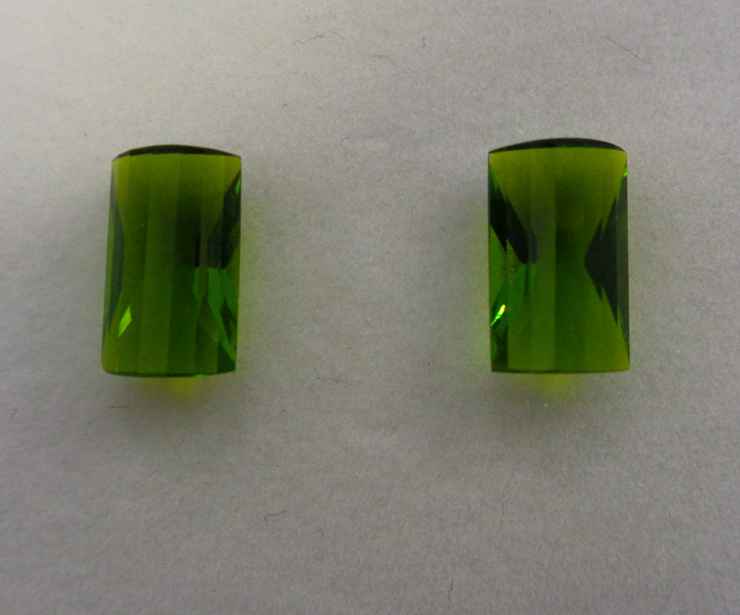 Green Topaz Pair 9 Carats Top Quality - Redstargems