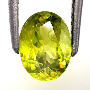 1.70 Cts Natural unforgettable sphene loose gemstone 8 x 6 mm oval shape