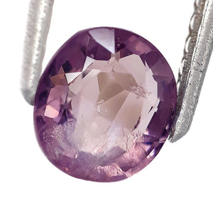 1.45 Carats Natural Spinel Loose Gemstone 7 x 6 MM Purple Color