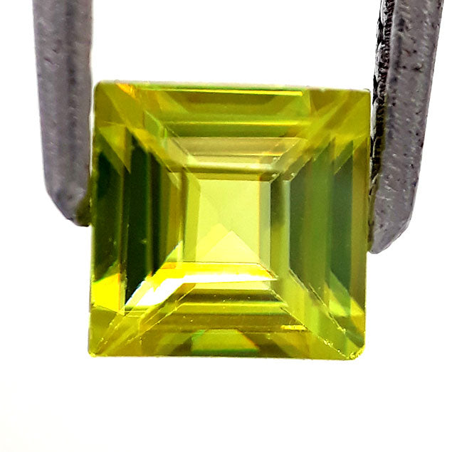 Natural gorgeous sphene loose gemstone princess cut top quality 5 mm size
