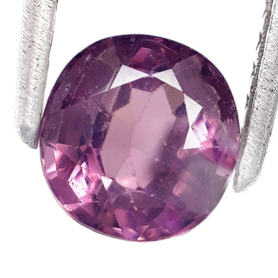 1.55 Carats Natural Spinel Loose Gemstone 7 x 6 MM  Purple Color