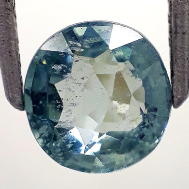 1.40 Carats Natural Spinel Loose Gemstone 7 x 6 MM Greyish Green