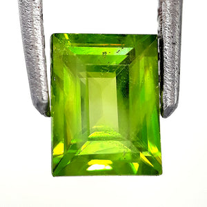 Natural astonishing sphene loose gemstone 1.10 carats octagon cut