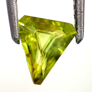 Natural amazing sphene loose gemstone trillion cut 7 x 8 mm best quality