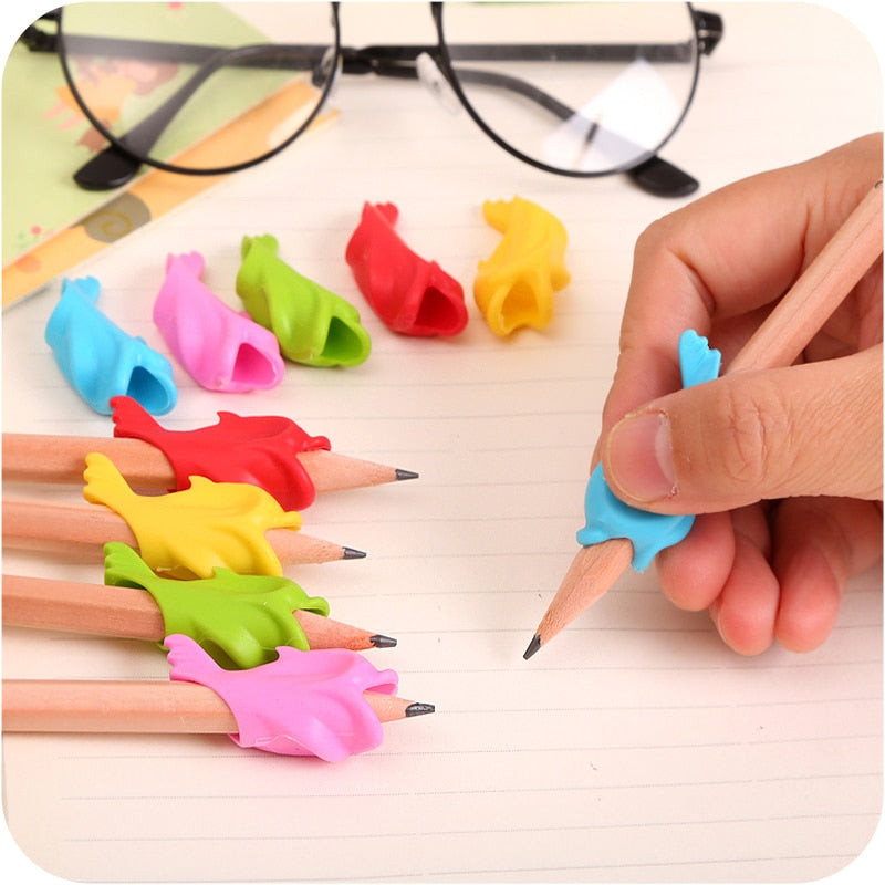 baby fish dolphins grip pen