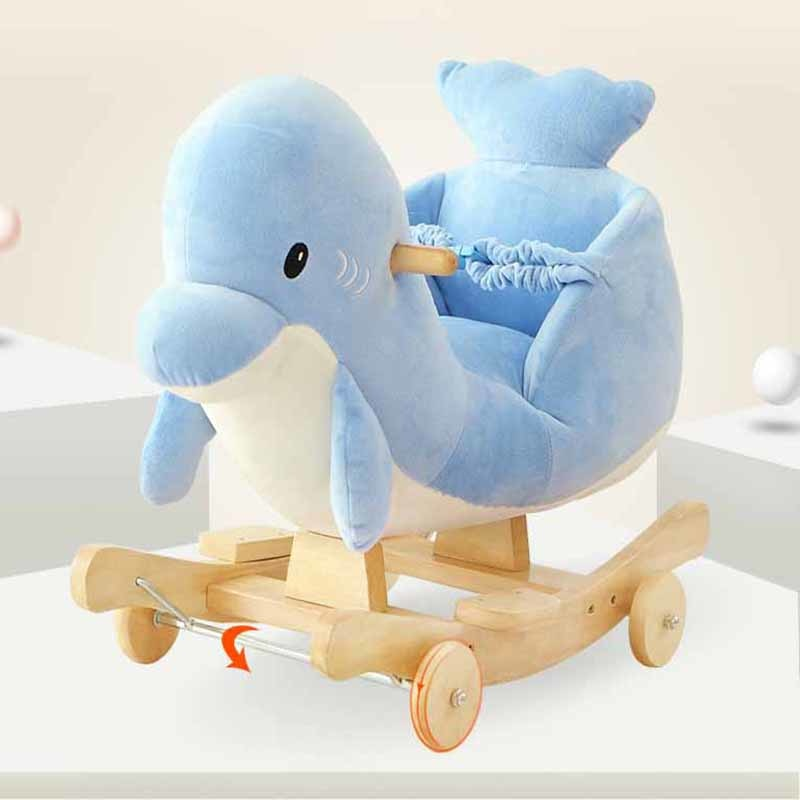 Dolphin Baby Plush Chair With music