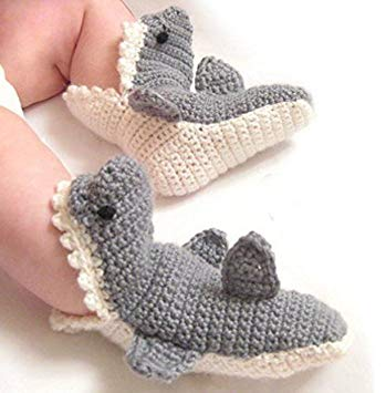 Handmade Shark baby Crochet Socks