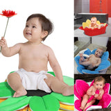 Baby Bathtub Foldable Blooming Flower Shape Mat