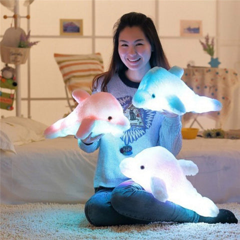 Cute Dolphin Stuffed Plush Night Lamp