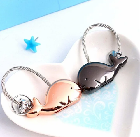Dolphin Couple Keychain