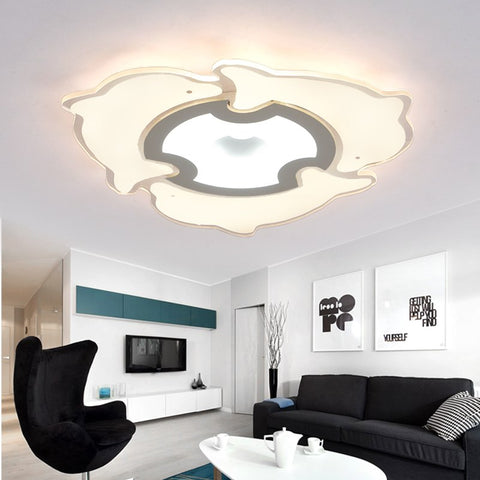Ultra thin led dolphin ceiling light modern living room bedroom lamp