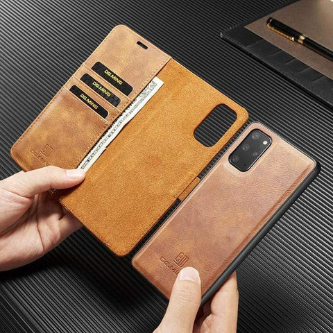 removable leather wallet case for samsung galaxy s21 styleeo