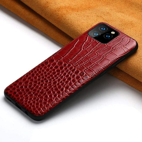 Genuine Back Cover iPhone Leather Case