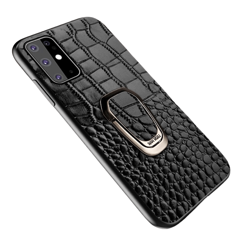 Kickstand Genuine Grain Leather Case for Samsung Galaxy