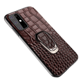 Kickstand Genuine Leather Case For Samsung Galaxy For Galaxy S20 / Brown with holder Samsung Leather Cases Styleeo
