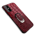 Kickstand Genuine Leather Case For Samsung Galaxy For Galaxy S20 / Red with holder Samsung Leather Cases Styleeo