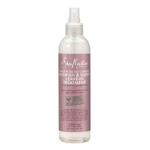 Shea Moisture Peace Rose Oil Complex Nourish & Silken Leave-In Conditioner for natural black hair -Black Beautique