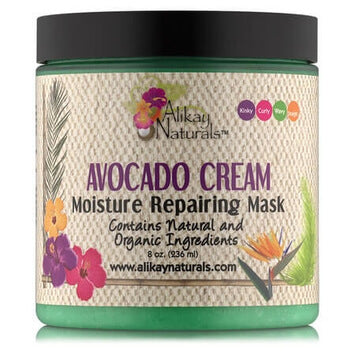 Alikay Naturals Avocado Cream Moisture Repairing Hair Mask 236ml - Black Beautique