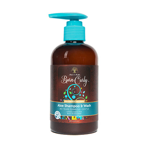 As I Am Born Curly Aloe Shampoo & Wash 240ml - Black Beautique