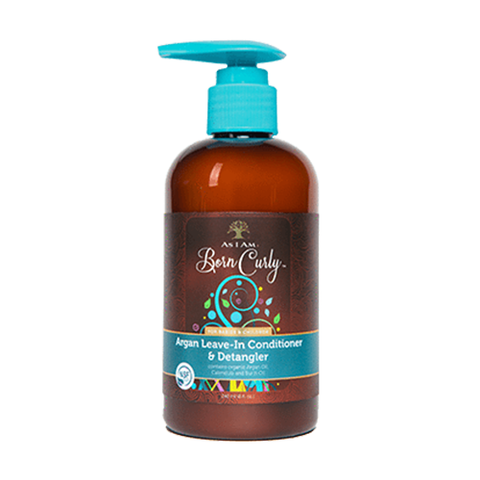 As I Am - Born Curly Argan Leave-In Conditioner & Detangler 240ml - Black Beautique