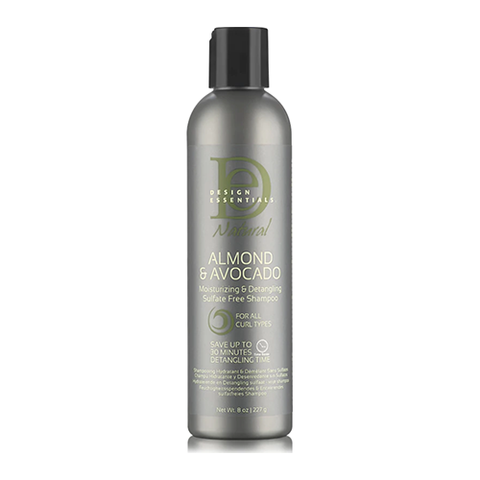 Design Essentials - Almond & Avocado Moisturizing & Detangling Sulfate Free Shampoo 237ml - Black Beautique