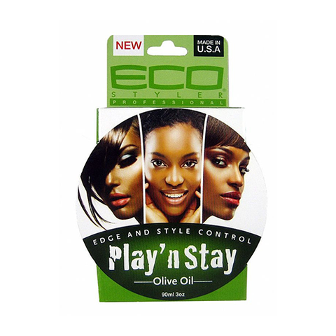 ECO Styler - Play N Stay Olive Oil Pomade - 3oz - BlackBeautique