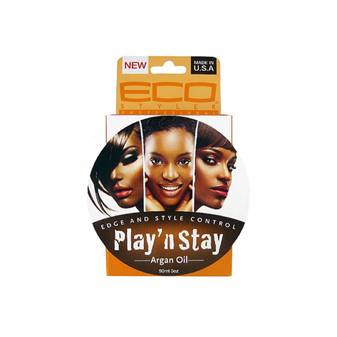 ECO Styler - Play n Stay Edge and Style Control Argan Oil - 3oz - BlackBeautique
