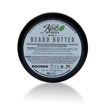 Koils By Nature Men Beard Butter 59ml | Black Beautique