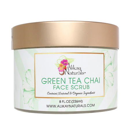 Alikay Naturals-Green Tea Chai Face Scrub 236ml - BlackBeautique