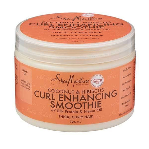 Shea Moisture Coconut & Hibiscus Curl Enhancing Smoothie 326ml - Black Beautique