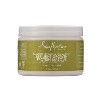SheaMoisture Bamboo Extract & Maca Root Resilient Growth Protein Masque 255ml - Black Beautique