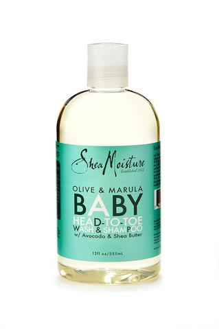 Shea Moisture - Olive & Marula Baby Head-to-Toe Wash & Shampoo 355ml - Black Beautique