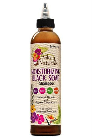 Alikay Naturals - Moisturizing Black Soap Shampoo 236ml/472ml - BlackBeautique