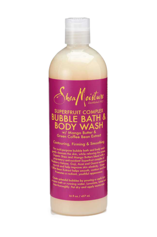 Shea Moisture Superfruit Complex Bubble Bath & Body Wash 437ml - Black Beautique