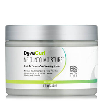 DevaCurl Melt Into Moisture Matcha Green Tea Butter Conditioning Mask 236ml - Black Beautique