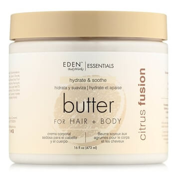 Eden BodyWorks Citrus Fusion Hair + Body Butter 454g - Black Beautique