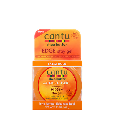 Cantu - Extra Hold Edge Stay Gel 64g - Black Beautique