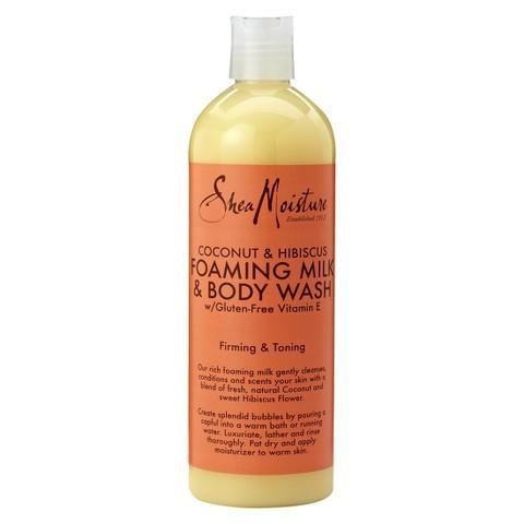 SheaMoisture - Coconut & Hibiscus Foaming Milk & Body Wash 437ml - Black Beautique
