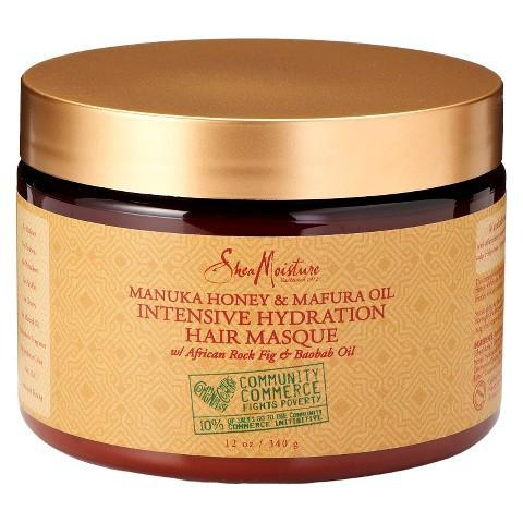 SheaMoisture Manuka Honey & Mafura Oil Intensive Hydration Hair Masque 340g - Black Beautique
