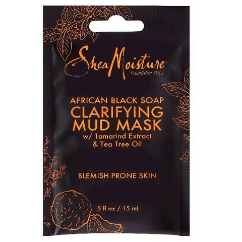 SheaMoisture - African Black Soap Clarifying Mud Mask 15ml - Black Beautique