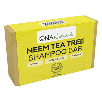 OBIA Naturals Neem & Tea Tree Shampoo Bar - Black Beautique