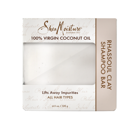 Shea Moisture 100% Virgin Coconut Oil Rhassoul Clay Shampoo Bar-Black Beautique